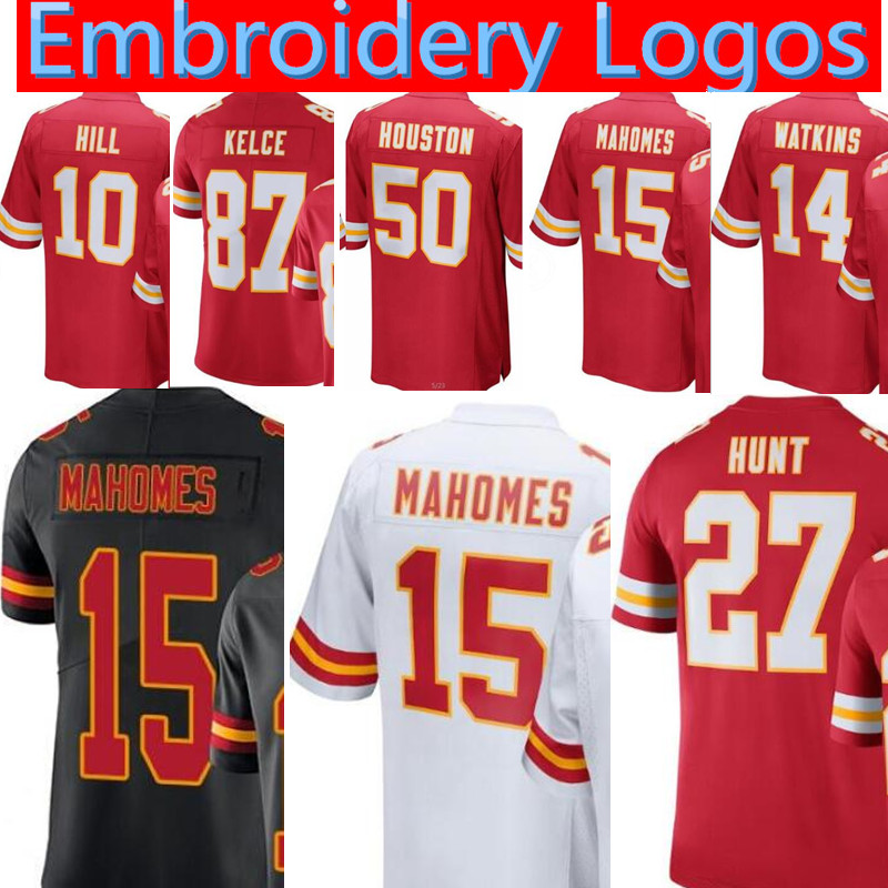 70c24fd4add 15 Patrick Mahomes JERSEY Mens 10 Tyreek Hill Kansas 87 Travis Kelce 27  Kareem Hunt 14 Watkins 29 Berry 50 Houston JERSEYS-in America Football  Jerseys from ...