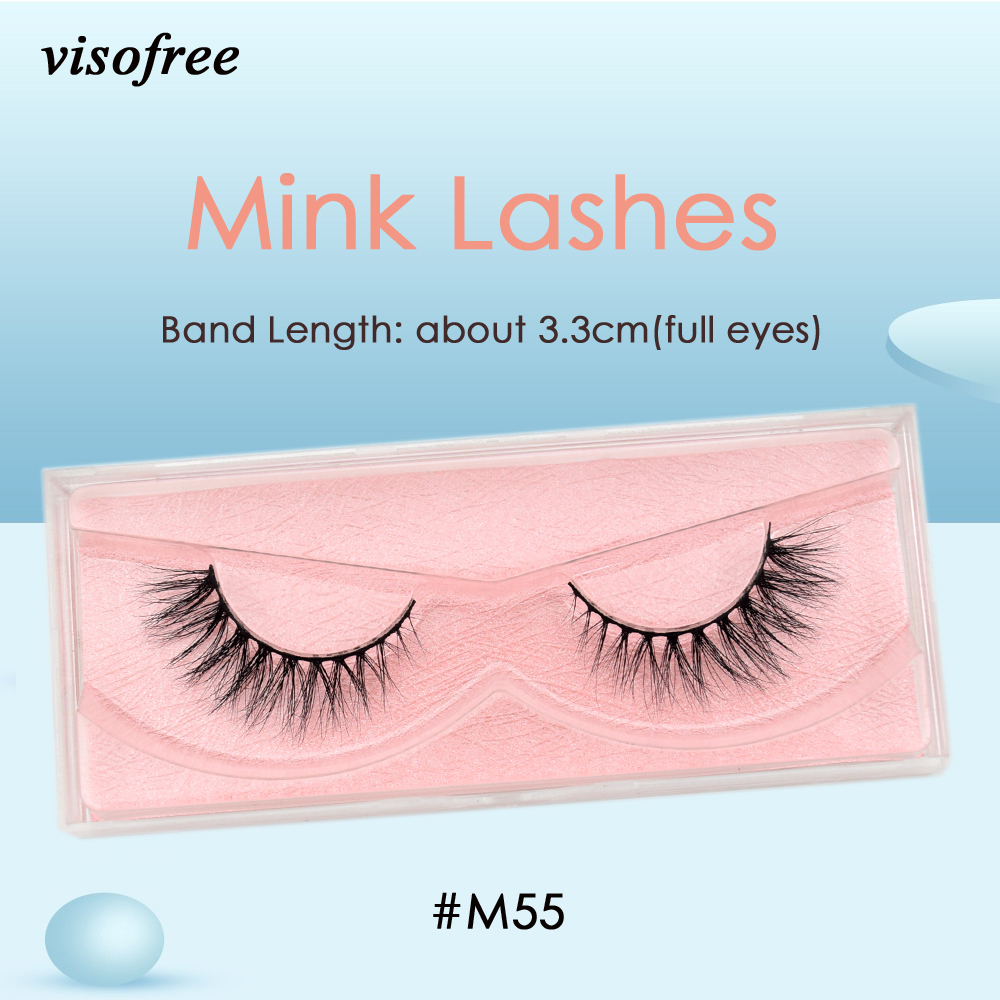 Visofree Mink Lashes 3D Mink Eyelashes Ultra Fluffy Collection Medium Volume Mink False Eyelashes Cruelty Free Lashes Makeup M55