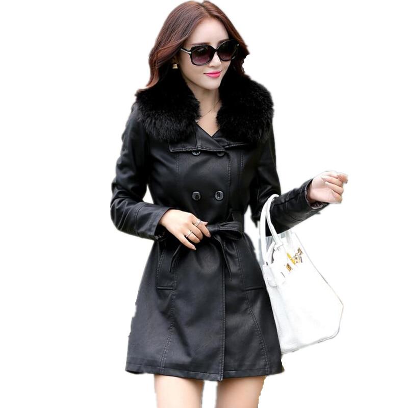 Online Get Cheap Women Wearing Leather Coats -Aliexpress.com ...