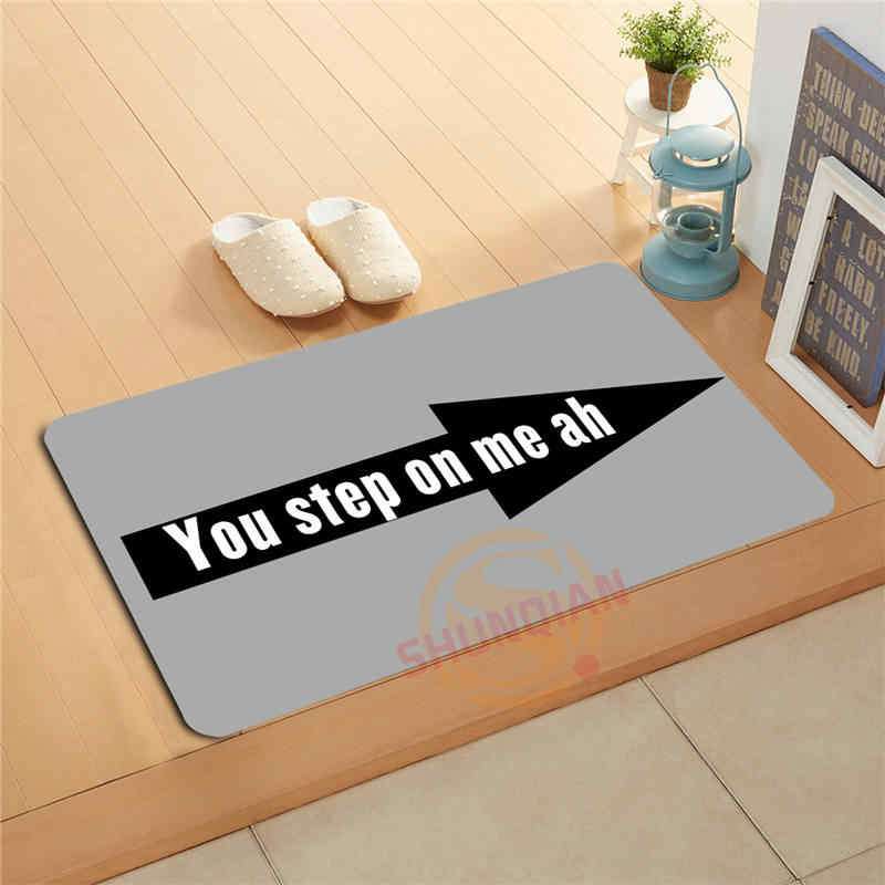 P-J/q113 Kustom Anda Langkah Pada Saya, AH Keset Home Decor Pintu tikar Lantai Tikar Mandi Tikar kaki pad #1121 #-F & QT113