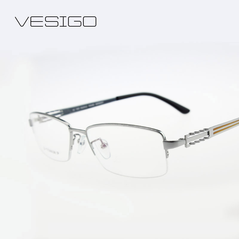 ̀ •́ pure titanium half frame glasses clear eyeglasses frames men ...