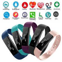 Fitness watch bluetooth Pink smart watch women men tracking sleep monitoring android iOS black pink blue watch smart reloj 2019