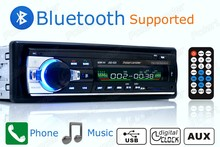 Европа доставка быстрая доставка автомобилей Радио Bluetooth Авто Аудио Стерео Bluetooth плеер телефон AUX-IN MP3 FM USB 1 DIN remote12V