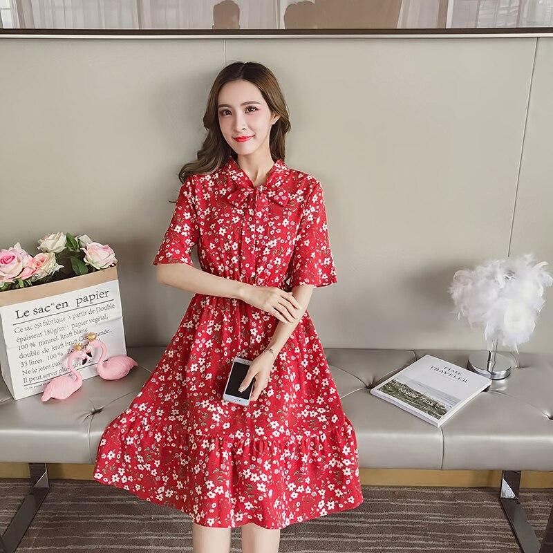 790211c713 Plus tamaño 2019 Primavera Verano vestido Vintage de trabajo Casual vestido  de oficina temperamento vestido de