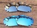 Chrome Espelho de Prata & Azul 2 Pares Polarizados Vented Lentes de Reposição Para O Jawbone Óculos De Sol Quadro 100% UVA & Uvb