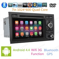 Android 4 4 Car Dvd 1024 600 For Audi A4 2003 2004 2011 Quad Core Gps