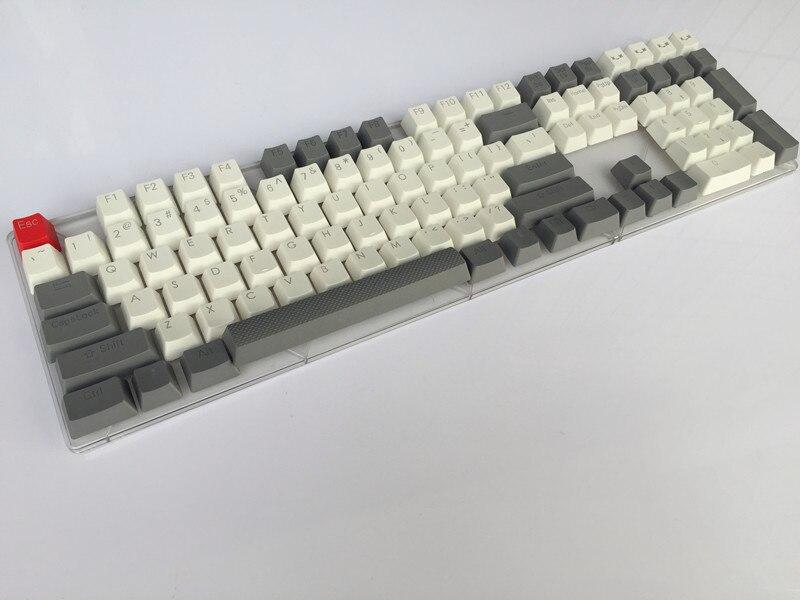 Retro gray 109 PBT Double shot Translucidus Backlit Keycaps For Corsair STRAFE K65 K70 Logitech G710+ Mechanical gaming Keyboard logitech g710