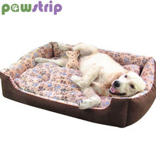 01ed408a59b4 pawstrip 6 Size Paw Pet Winter Dog Bed House Husky Labrador Soft Warm Cat  Beds Washable Puppy Cushion For Large Dogs XXS-XL