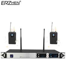 Wi-fi Microphone New U8000GT2 UHF 2 Channel Mounted Frequency + Dynamic Display + KTV + Skilled Microphone