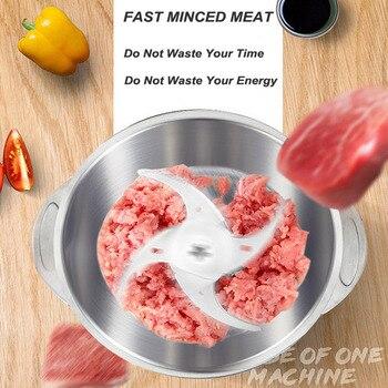 ใหม่ครัวเรือนมัลติฟังก์ชั่เครื่องบดเนื้อคุณภาพสูงใบมีดสแตนเลสหน้าแรกทำอาหารเครื่อง Mincer