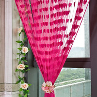 solid color decorative string curtain 3mx3mfree shipping pink red yellow classic line curtain window blind vanlance room divider