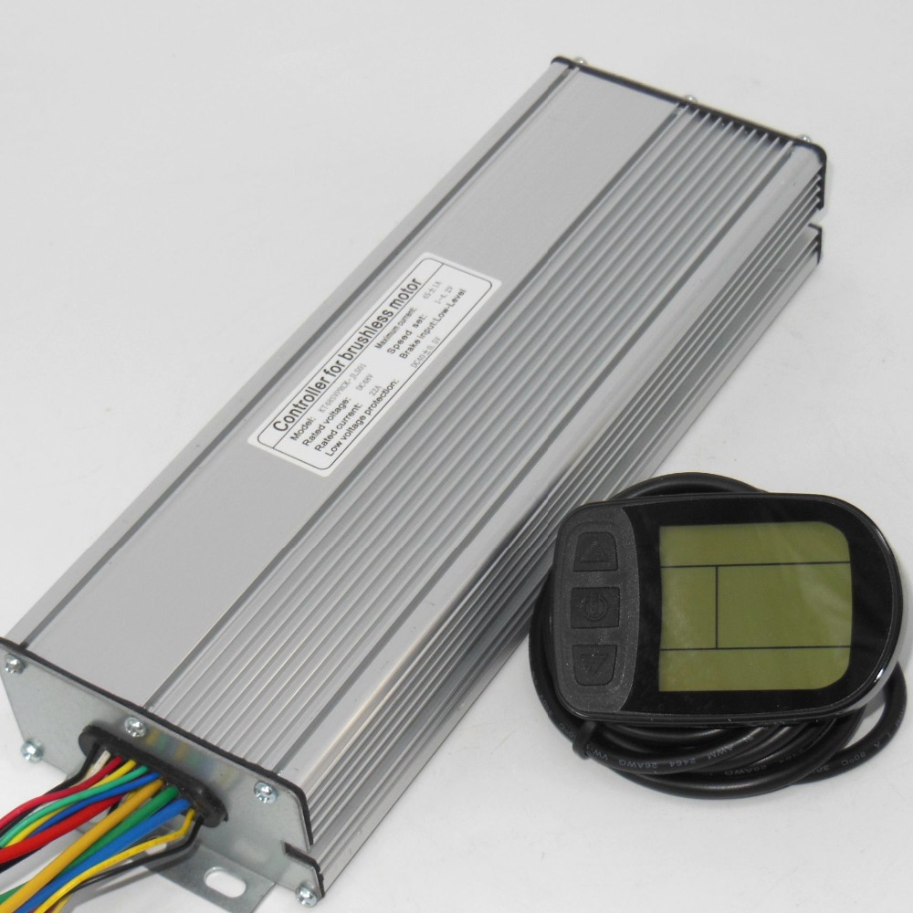 48V 1500-2000W 45Amax Brushless DC Motor Controller Ebike LCD5 KUNTENG LCD Sine Wave Controller +KT-LCD5 Display One Set