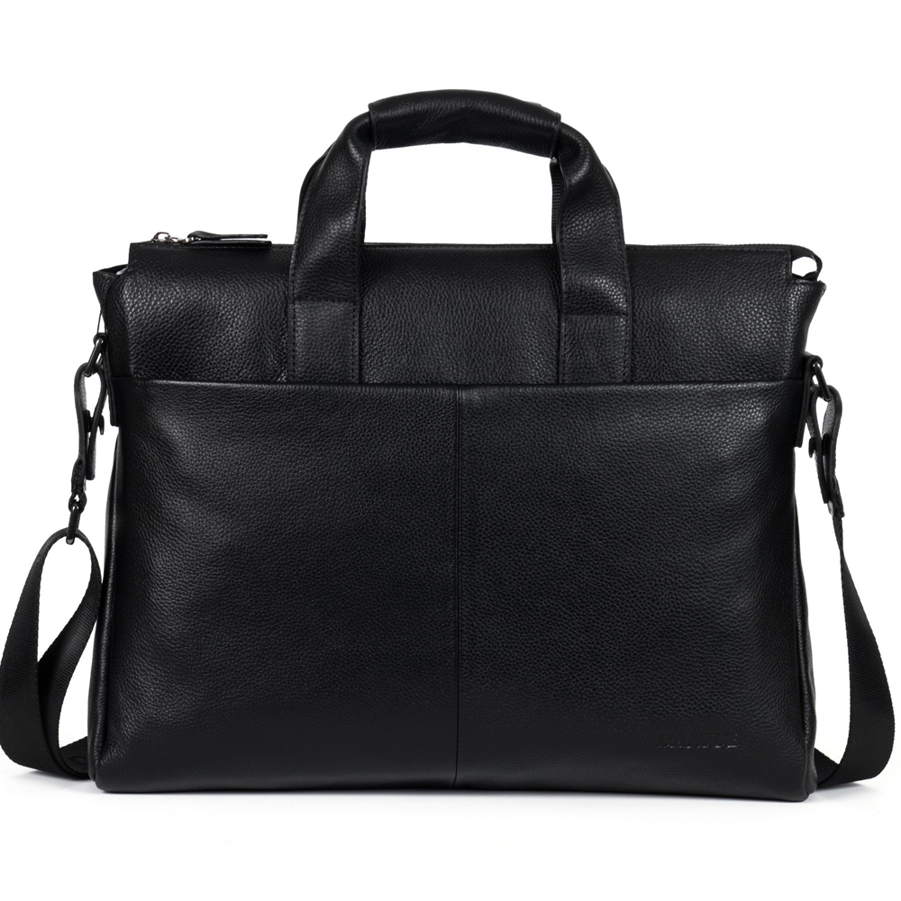 2018 New  Cow Genuine Leather Business Men's Briefcase Real Leather Male Shoulder Bag BLuxury Messenger Bag Tote Computer Bag