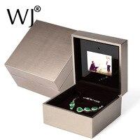 Ritzy Verlovingsring Box met LED Licht Muziek Video Spelen Armband Hanger Ketting Opslag Wedding Voorstellen Ring Display Box