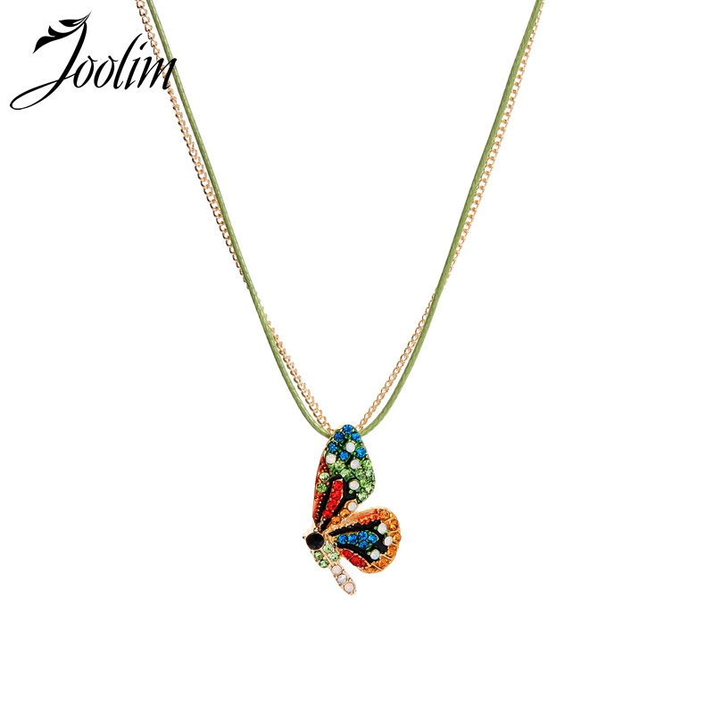 Joolim Jewelry Wholesale Cute Colorful Butterfly Pendant Necklace