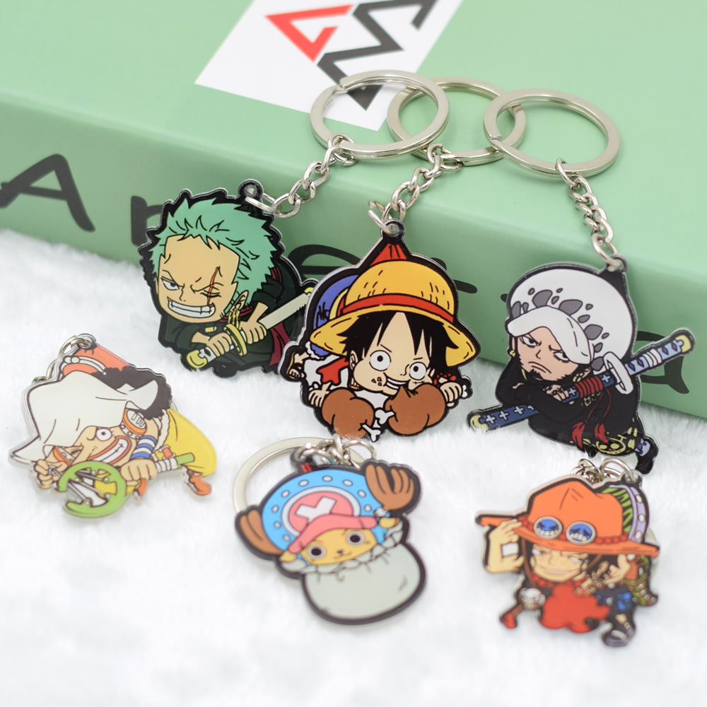 One Piece Keychain DIY Acrylic Car Key Chain Key Accessories Cute Cartoon Key Ring Luffy Law Action Figure HZW020 LTX1 attack on titan shingeki no kyojin acrylic keychain action figure pendant car key accessories key ring jjjr006 ltx1