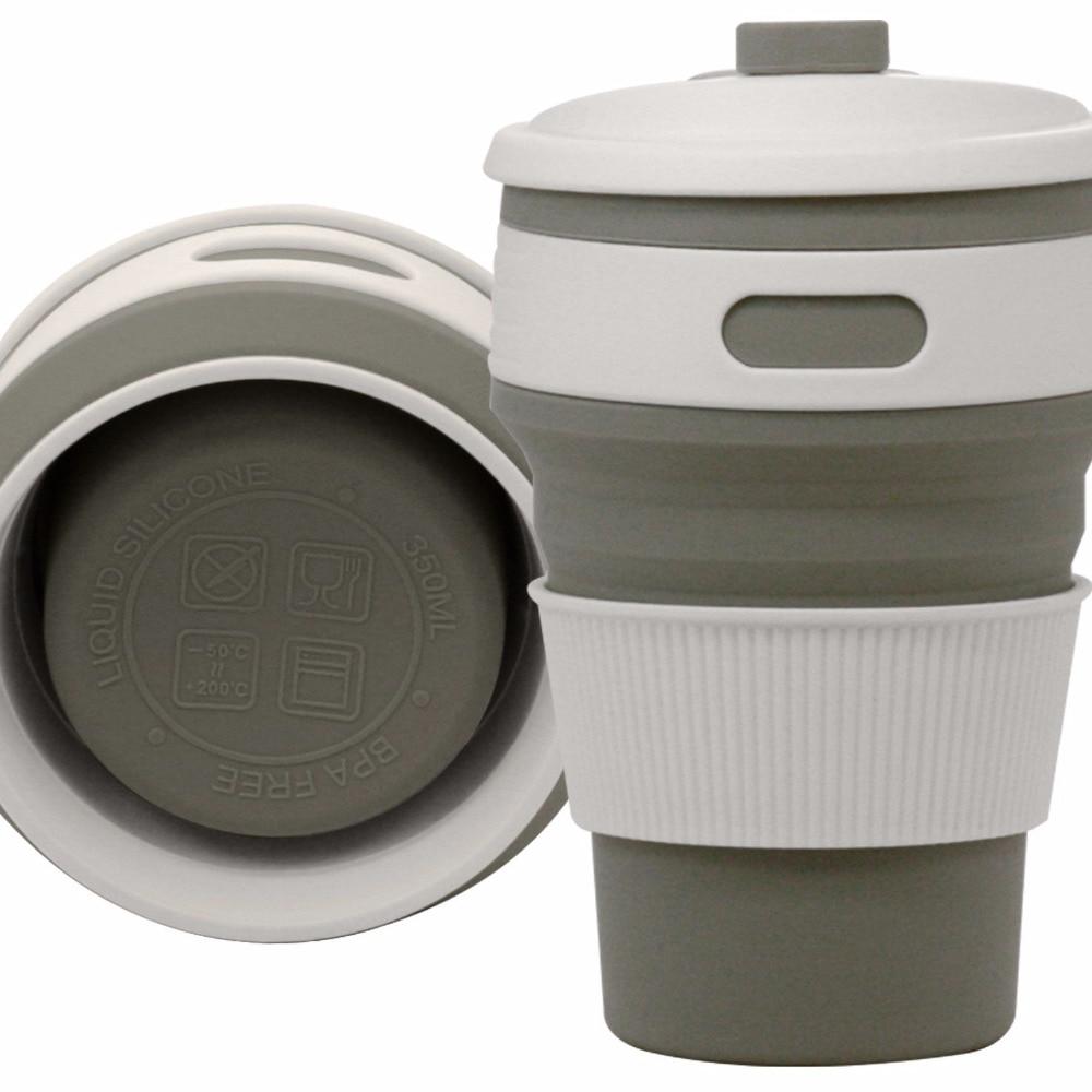 Tazas de café de viaje plegable de silicona Taza de té portátil - Cocina, comedor y bar - foto 5