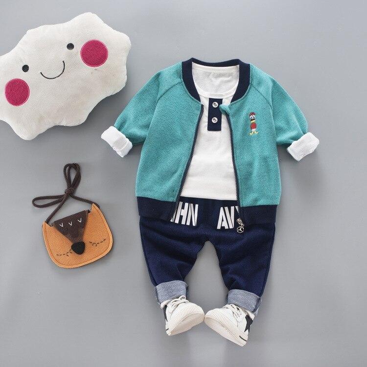 JIOROMY 2019 Çocuk giyim Güz Karikatür Baskı Fermuar Ceket + - Çocuk Giyim - Fotoğraf 2