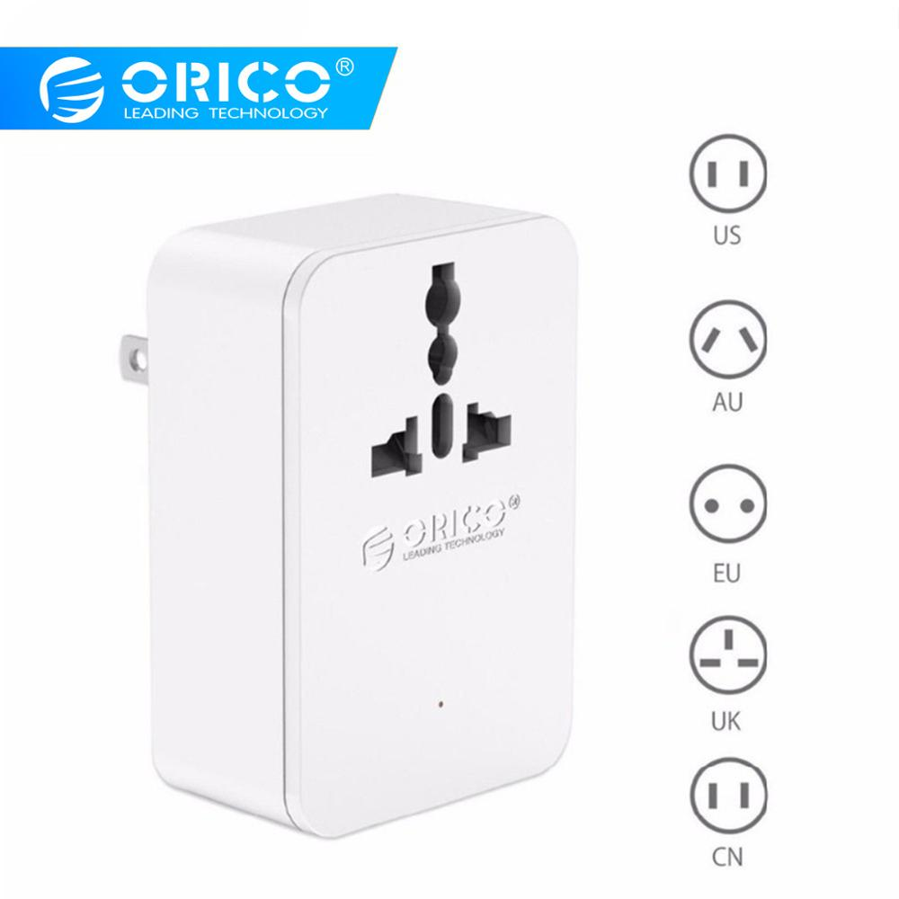 ORICO Universal <font><b>Power</b></font> Plug Travel Converting <font><b>Adapter</b></font> With 4 <font><b>USB</b></font> 1 AC <font><b>20W</b></font> Multi-Outlet Travel <font><b>Power</b></font> Strip for iphone Huawei image