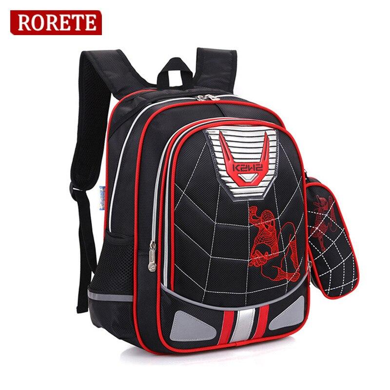 Cartoon Spiderman Orthopedic schoolbags Waterproof Children school backpack for kids shoulder bags mochilas escolares infantis школьный рюкзак other minecraft pack mochilas femininas sacos escolares bookbags ca13n393