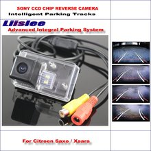 Liislee Reverse View Rear Camera For Citroen Saxo / Xsara Intelligent Parking Tracks Backup Dynamic Guidance Tragectory