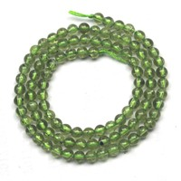 4mm Round Peridot Stone Beads Natural Stone Beads DIY Loose Beads For Jewelry Making Strand 15