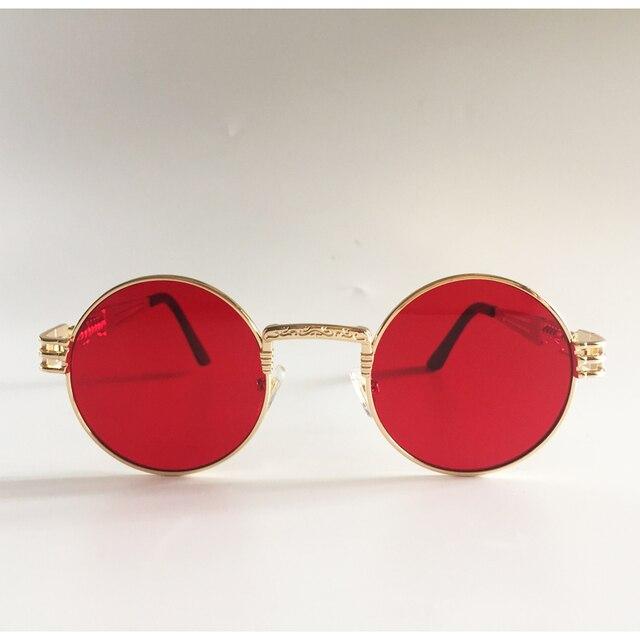 03a58edb0 Peekaboo vintage retro gothic steampunk mirror sunglasses gold and black  sun glasses vintage round circle men UV gafas de sol. Previous; Next