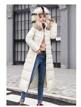 חורף עבה מעיל חם ארוך שלג ללבוש נשים כותנה מעיל ארוך שרוול מוצק מזדמן רוכסן נשים חולצות חם חורף בגדים