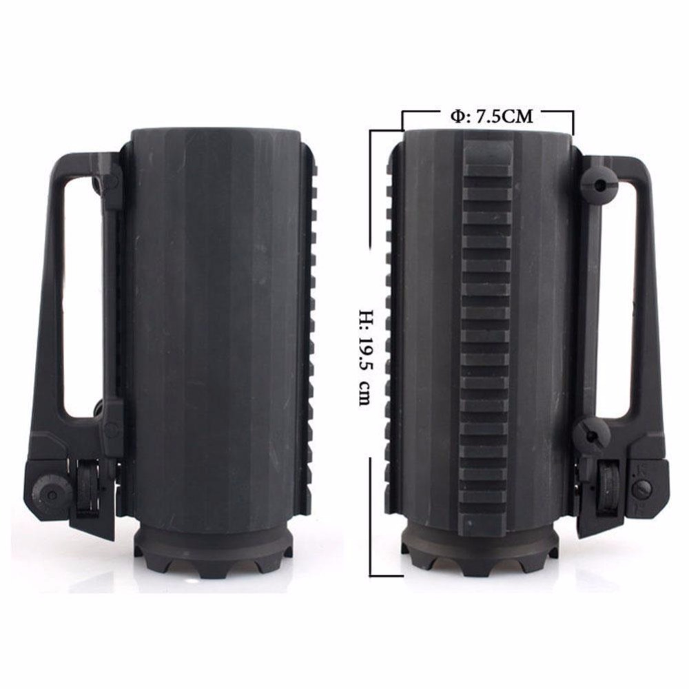 Hunting AR15 M4 gun accessories Tactical Beer Cup Water Cup Battle Rail Mug Detachable Carry Handle With Mechanical Rear Sight (4)