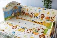¡Promoción! 6 piezas cuna de bebé cama cuna parachoques (parachoques + hoja + funda de almohada)