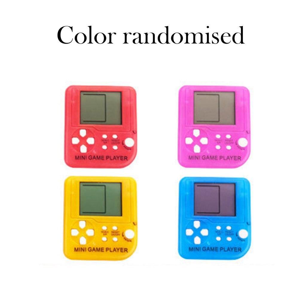 Mini Version Retro Classic Tetris Handheld Game Console Puzzle Decompression Tetris Electronic Game Console