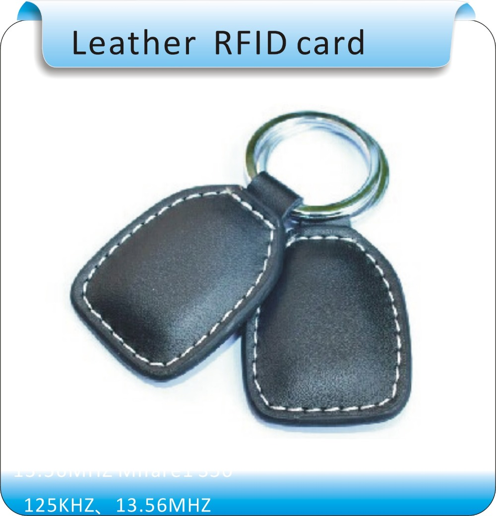 Free shipping Wholesale 100pcs/lot RFID Proximity Access Control Card rfid tag 125Khz TK4100 ( ID card Leather keychain) hw v7 020 v2 23 ktag master version k tag hardware v6 070 v2 13 k tag 7 020 ecu programming tool use online no token dhl free