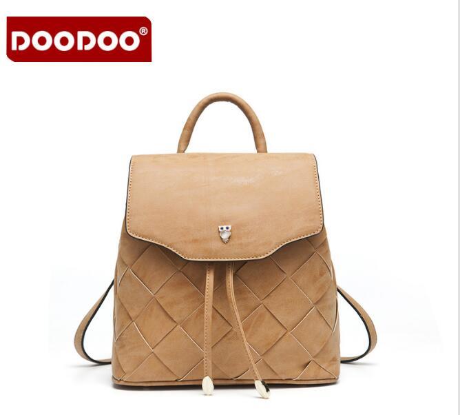 DOODOO Fashion Women Backpack High Quality PU Leather Backpacks for Teenage Girls School Bag Bagpack mochila feminina FR371 серьги nikolskaya серьги