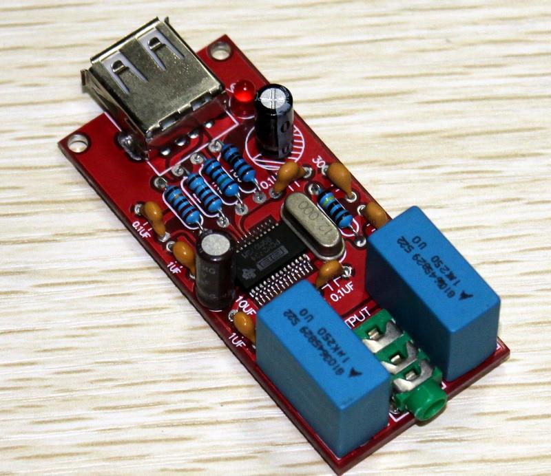 5VDC USB DAC PCM2704 decoder for Headphone Amplifier sound card
