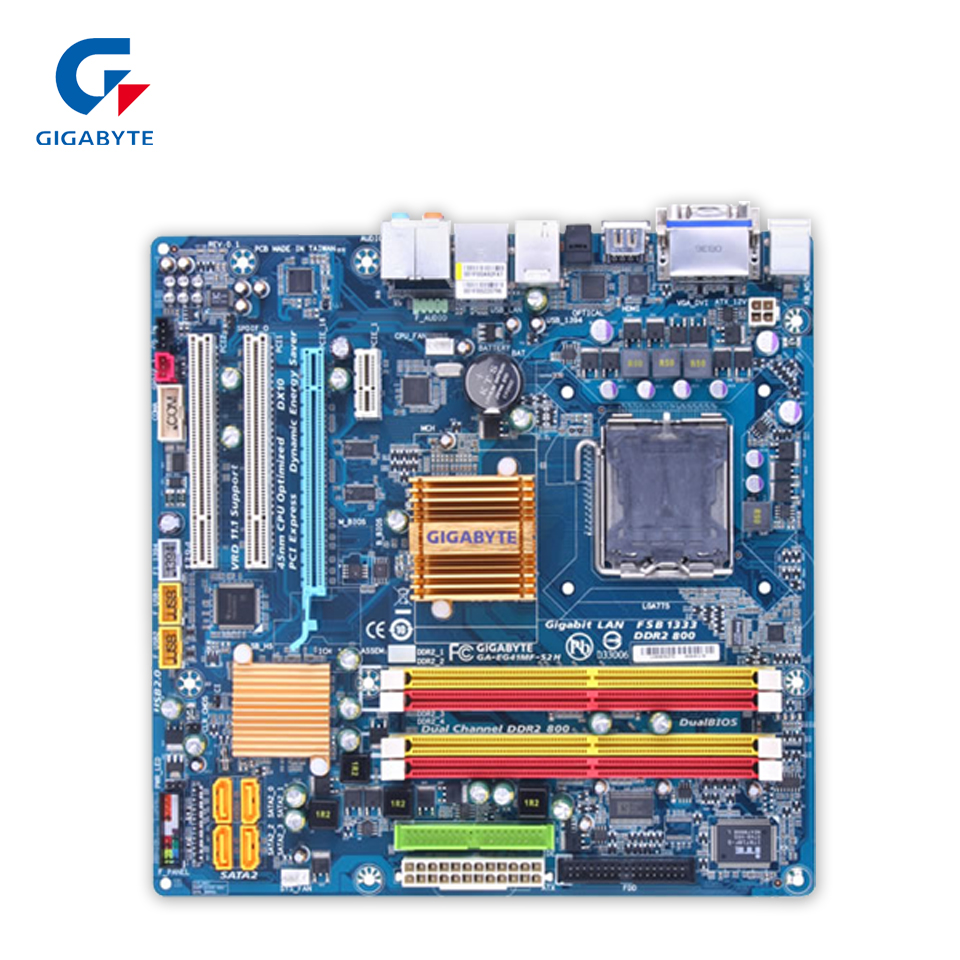 Gigabyte GA-EG41MF-S2H Desktop Motherboard EG41MF-S2H G41 LGA 775 DDR2 8G SATA2 USB2.0 Micro-ATX gigabyte ga a320m s2h