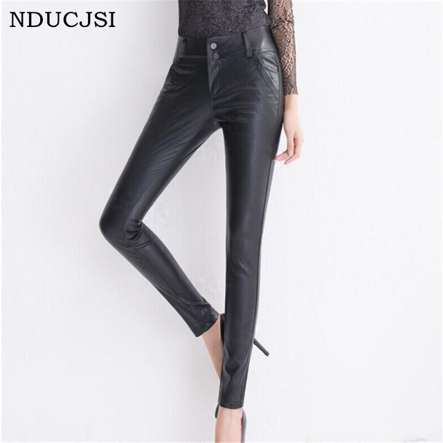 ab12887d96dd6 Punk Style Rock Leggings Women Clothes Matte Faux Leather Leggins Sexy Thin  Women Legging High Elasticity Trouses Plus Size