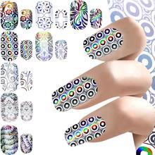 цена на 1pcs Glitter Nail Foil Transfer Sticker Laser Paper for Nail Art Design Fashion Starry Sky Style Nail Art Sticker