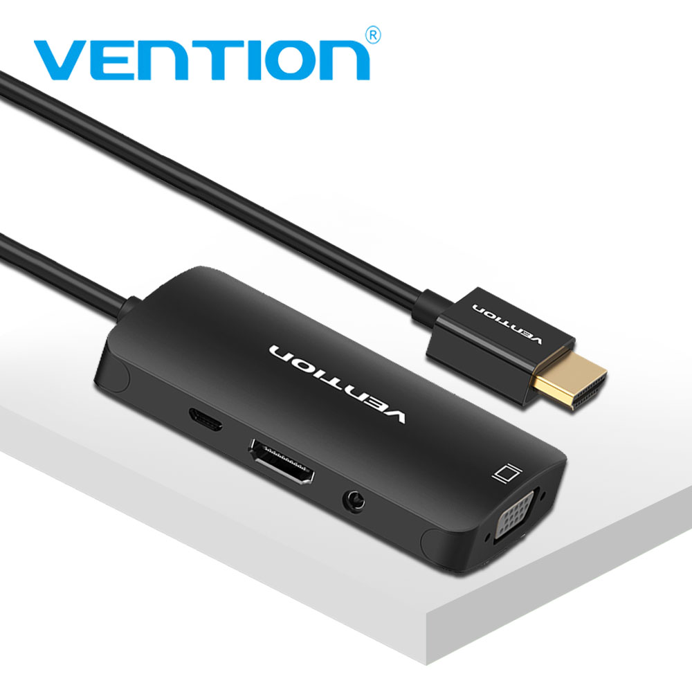 Vention HDMI to VGA Adapter for PS4 Pro TV Box Raspberry pi 3 Laptop HDMI Splitter Digital Analog Video Audio HDMI to HDMI Cable