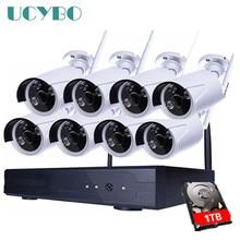 8CH Wireless NVR IP Camera 960P HD CCTV System 8PCS IR Outdoor waterproof Wifi IP Camera 1.3mp Home video Security Surveillance