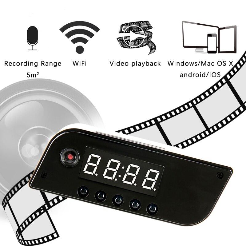 Mini WIFI Camera Clock Alarm P2P IR Night Vision Wifi Cam IP 720 Mini DV DVR Camcorder Wifi Remote Control Wireless Micro Camera