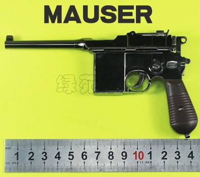 Scaled 1/2.05 pure metal mauser pistol model toy m1932 toy gun model...