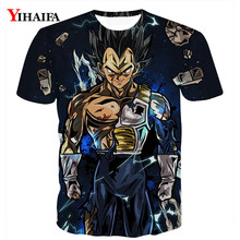 2019 New 3D T shirt Dragon Ball Z Print Anime Fighting Vegeta Casual Tee Shirts Men Unisex Cartoon Graphic Tees Tops