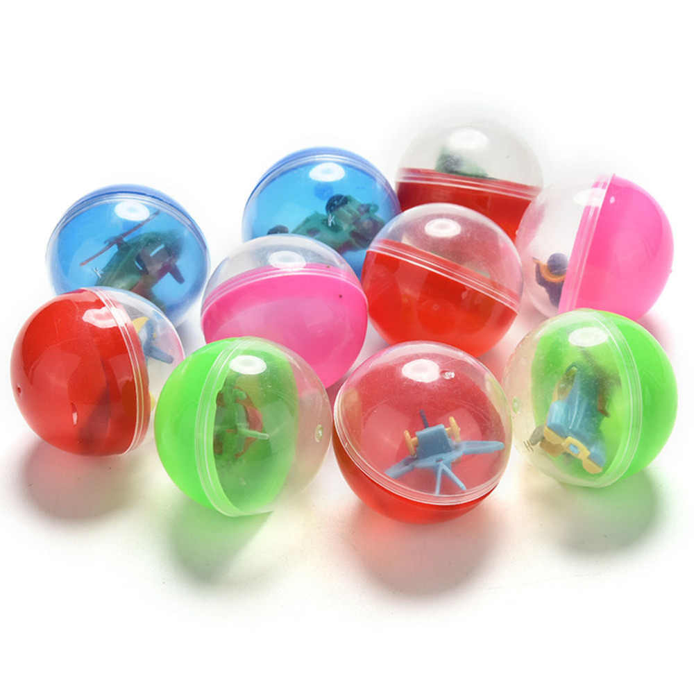 Pizies Children Kids Babies Games Funny Plastic Toy Ball Animal In Shilly Egg Balls 10 Pcs/lot