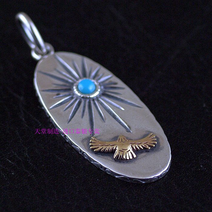 Indian style inlaid  sun eagles 925 sterling silver pendantsIndian style inlaid  sun eagles 925 sterling silver pendants