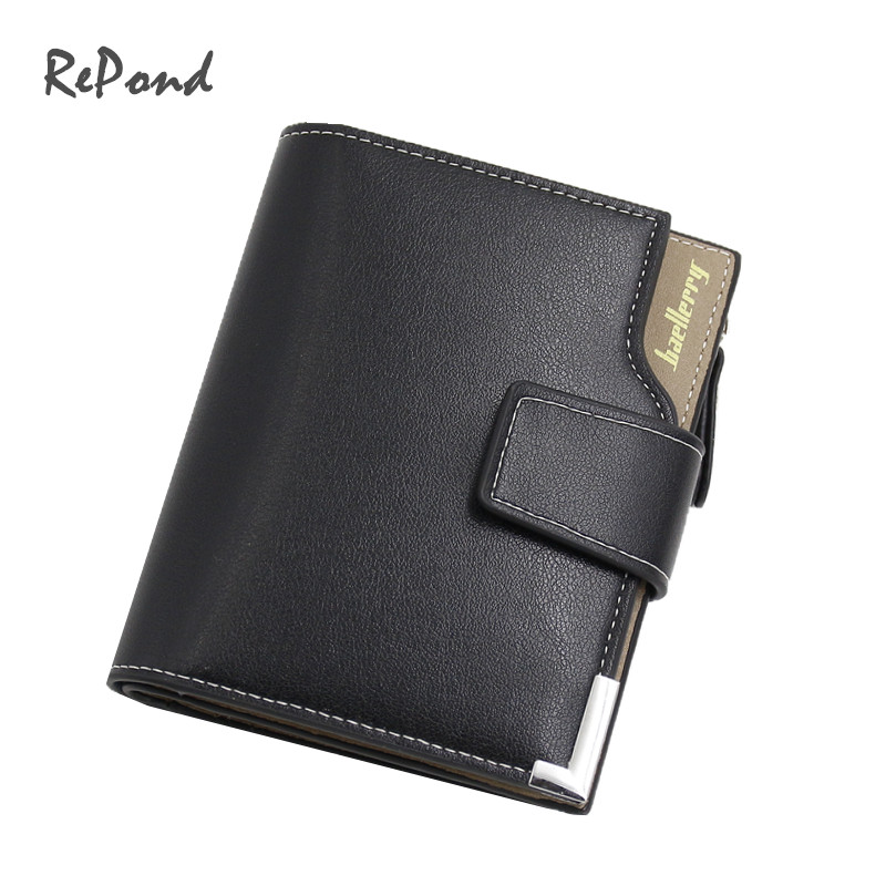2016 New Arrival casual man vertical Multifunctional zipper hasp wallet high quality men luxury purse money clips_Free shipping