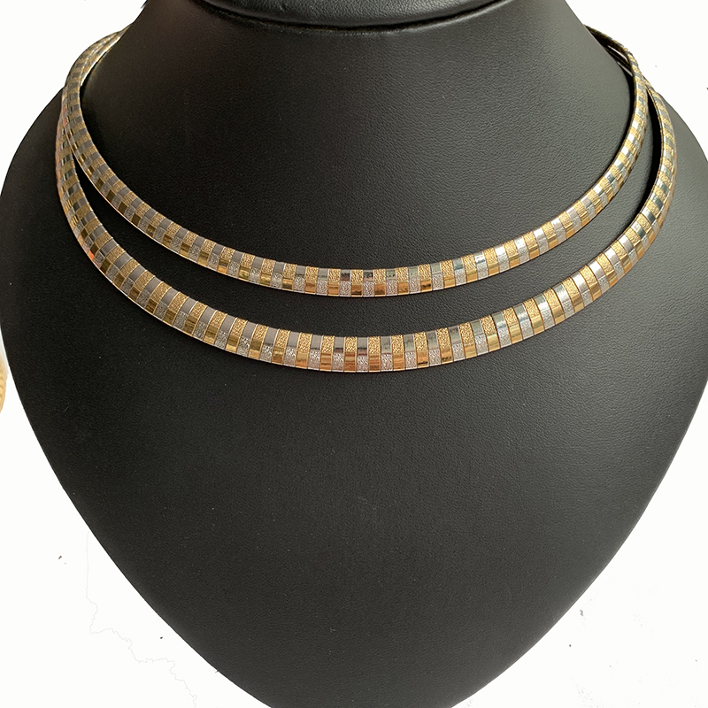 USENSET Charm Collar Necklace Women Stainless Steel Jewelry Cross Choker Torques Snake Chain New Style 2019 in Torques from Jewelry Accessories
