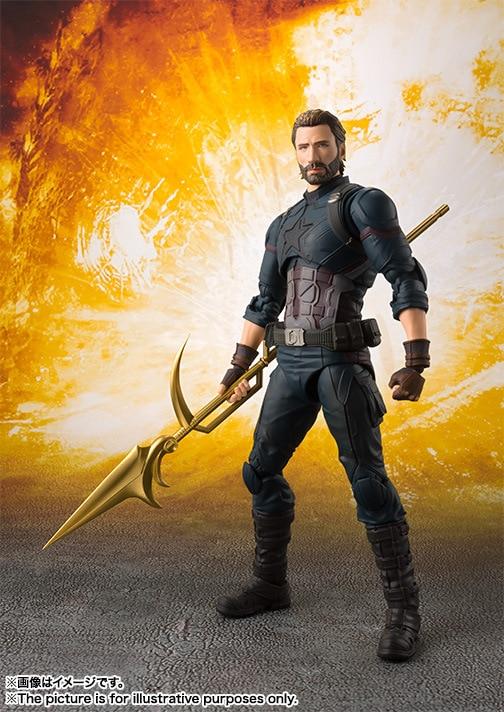 Captain American 15cm SHFiguarts Avengers Infinity War BJD Action Figures Toys