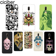 ciciber Terror Skull Phone Case For Oneplus 7 Pro 6 5 T Soft TPU Back Cover Clear Coque for 1+7 Pro 1+ 6 1+5 T Fundas Shell Capa