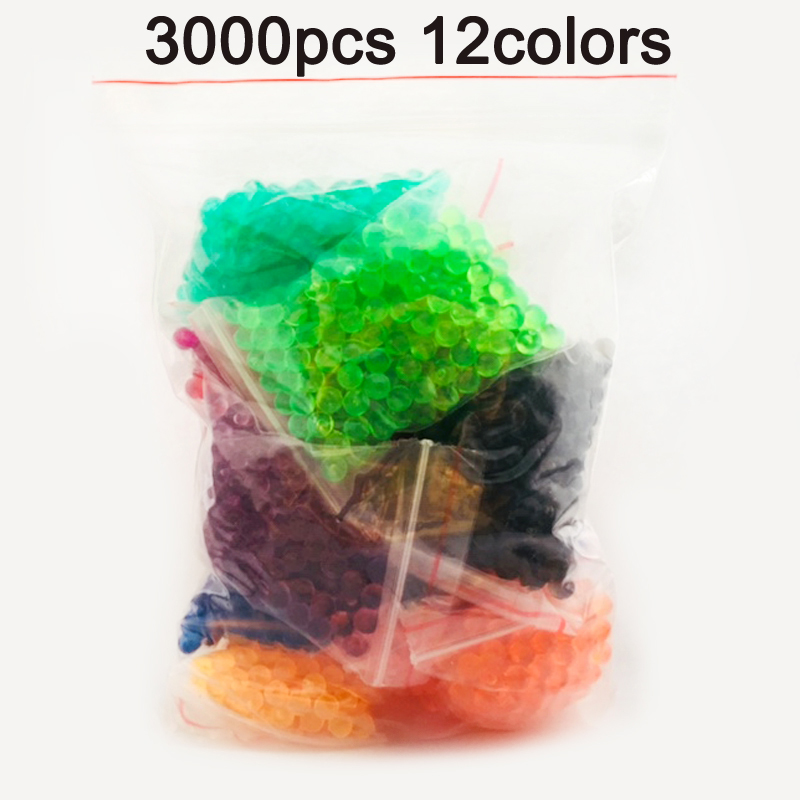 DOLLRYGA 3000pcs 12color Beads Puzzle Crystal Color Aqua DIY Beads Water Spray Set Ball Games 3D Handmade Magic Toy For Children