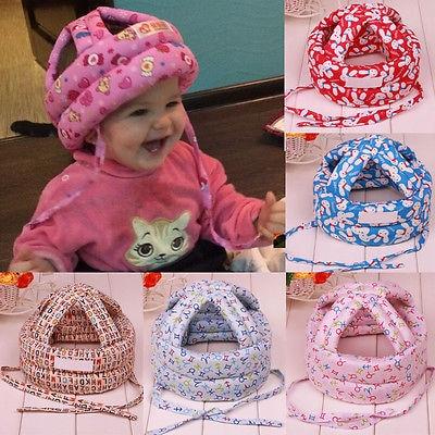 Toddler Baby Infant Cute Soft Safety Hat Headguard Protector Walk Cap Adjustment  противоскользящие полоски safety walk цвет серый 6 шт